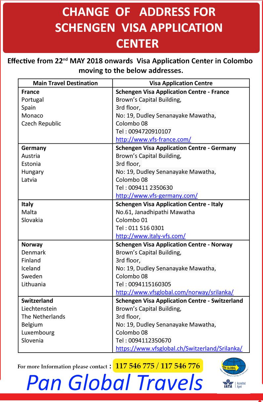 SCHENGEN VISA APPLICATION - Pan Global Travels & Tours